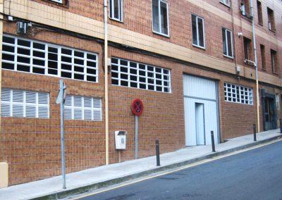 Garaje, fachada