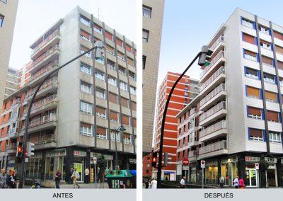 Edificio en Santutxu, antes y después