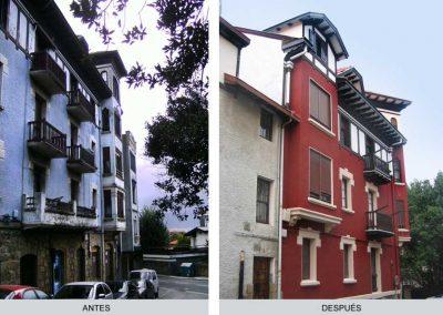 Edificio antiguo, antes y despúes